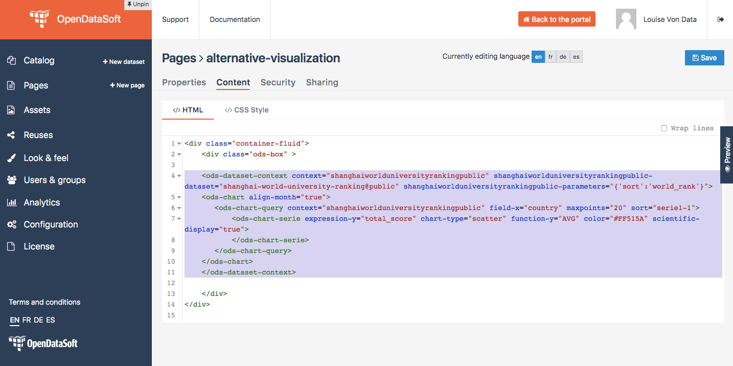 How to make visualizations match filters (with AngularJS