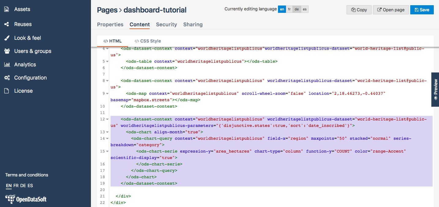 How to build a dashboard (part 1) — OpenDataSoft Tutorials 1.0 ...