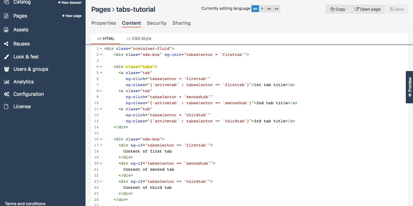 How to create tabs (with AngularJS) — OpenDataSoft Tutorials