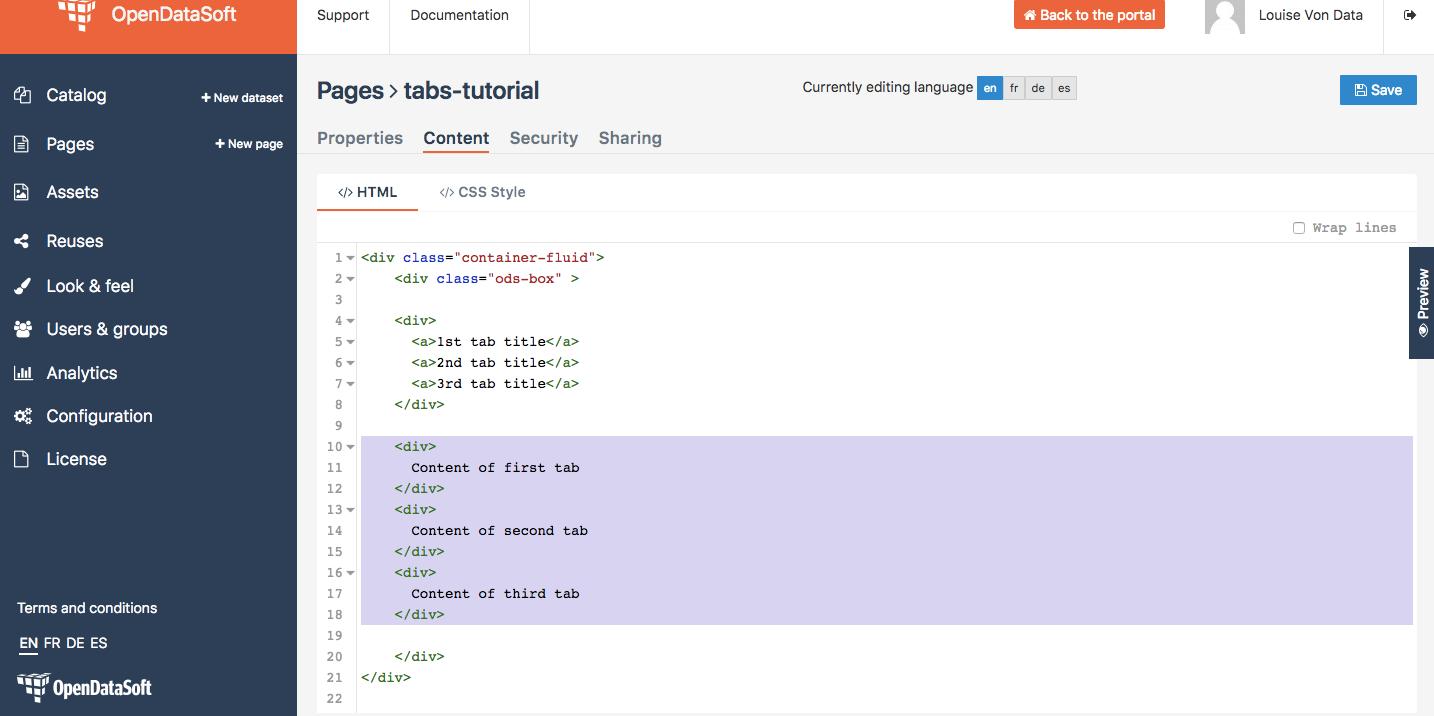 How to create tabs (with AngularJS) — OpenDataSoft Tutorials 1 0