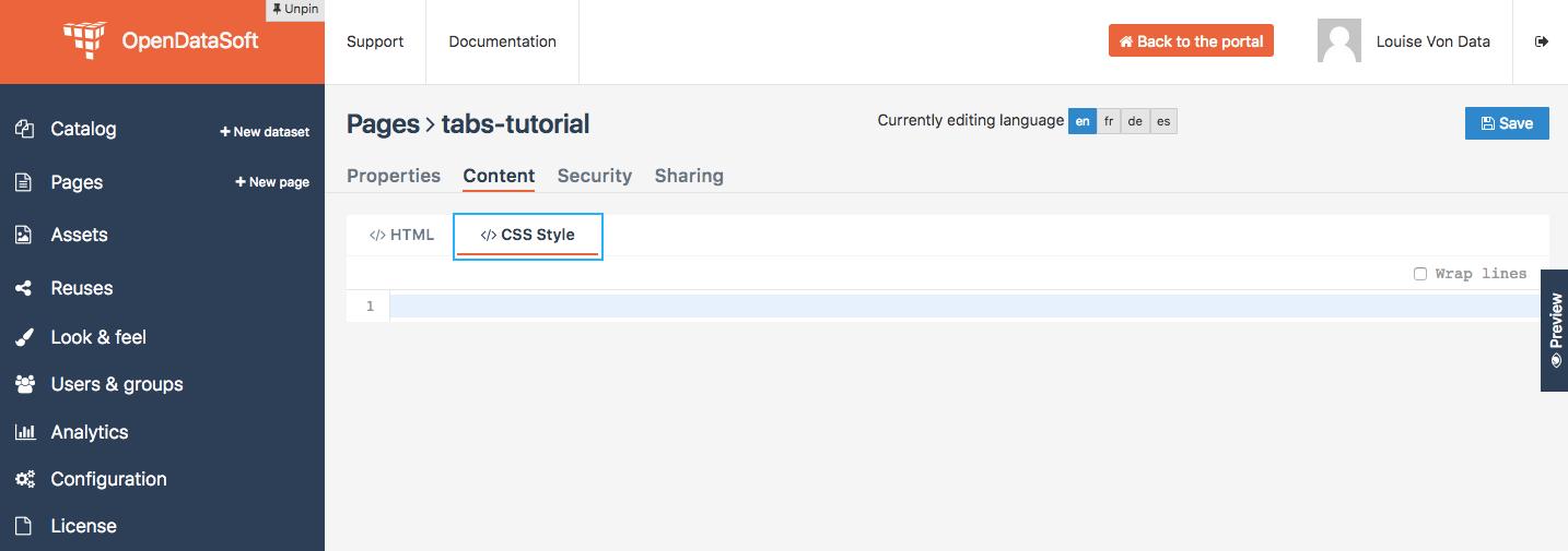 How To Create Tabs With Angularjs Opendatasoft Tutorials 1 0 Documentation